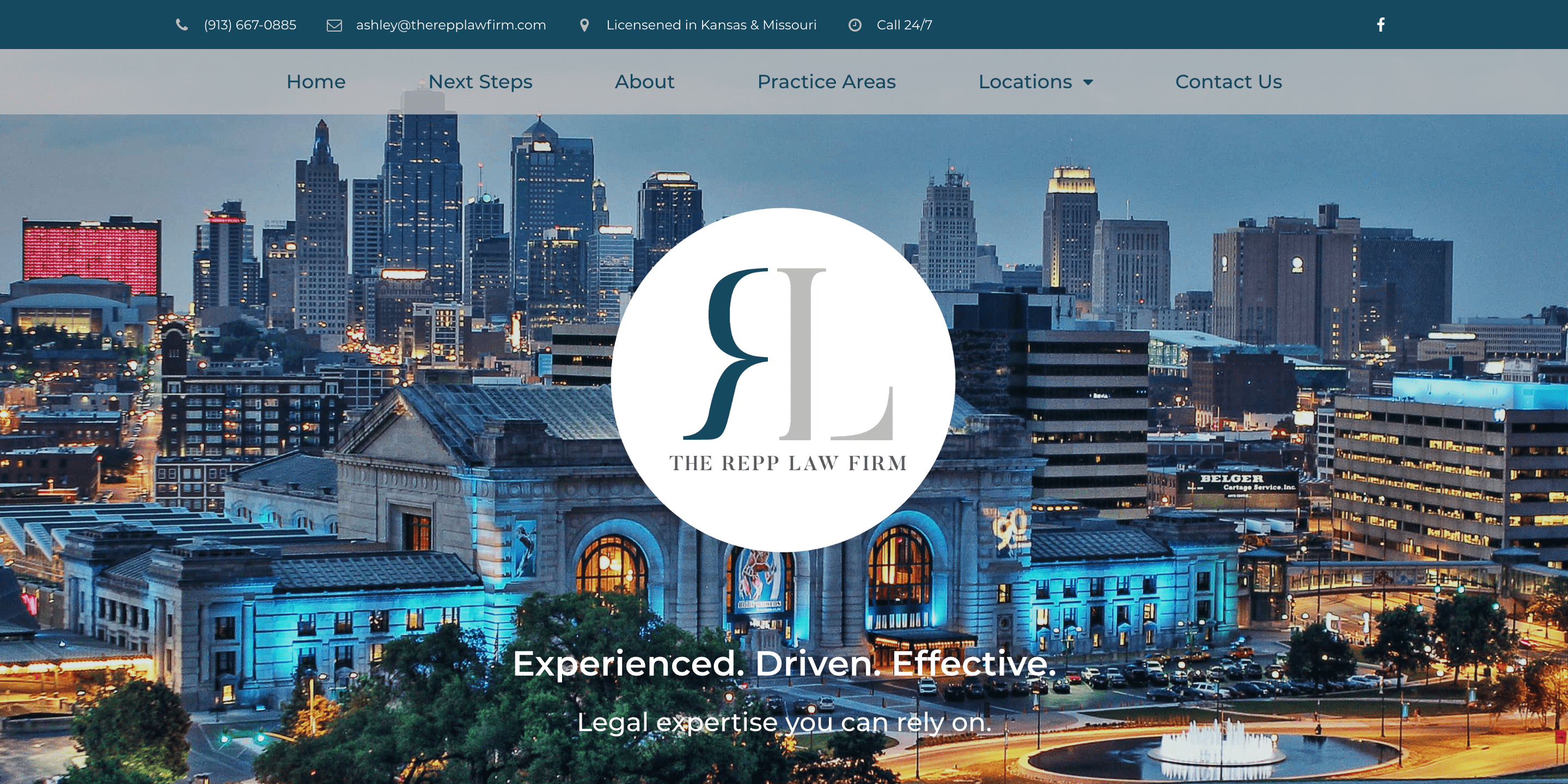 The Repp Law Firm Website